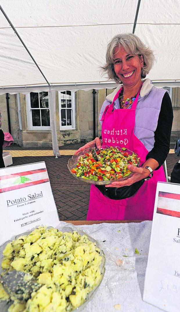 This Is Wiltshire: Wafaa Powell was offering salads from town firm Tayeb