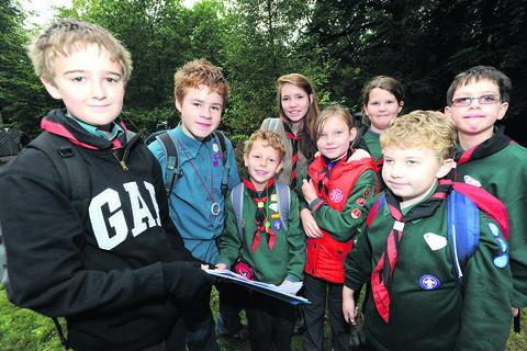 This Is Wiltshire: Some of the Cubs and Scouts who took part in Saturday's adventure