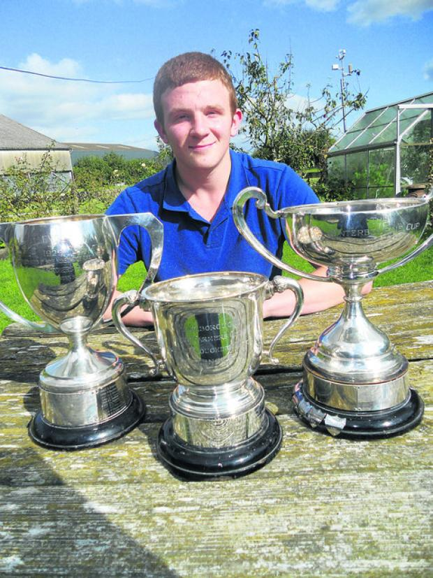 Jack Woolley with his trophies