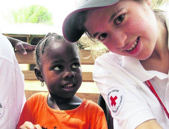 This Is Wiltshire: Anna during a a trip to Liberia with the Red Cross