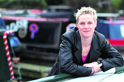 This Is Wiltshire: Jo Bell on her narrowboat PICTURE: Andy Pratt