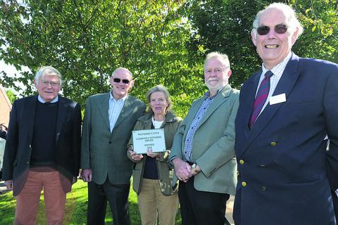 John Rodgers, Caroline Larken, Colin Gale, Dr Richard Tilbury and John Kitching with the award