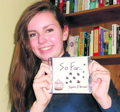 This Is Wiltshire: Sophie O'Donnell with her CD