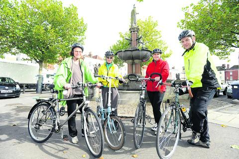 This Is Wiltshire: Kate Freeman, Margaret Nightingale, Dawn Gayfer and Douglas Cox prepare for Cycle Devizes! this Saturday