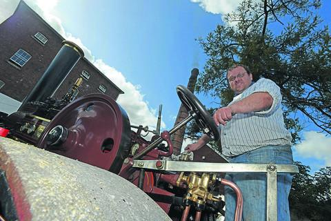 This Is Wiltshire: Jason Howard drives one of the engines at the Crofton event