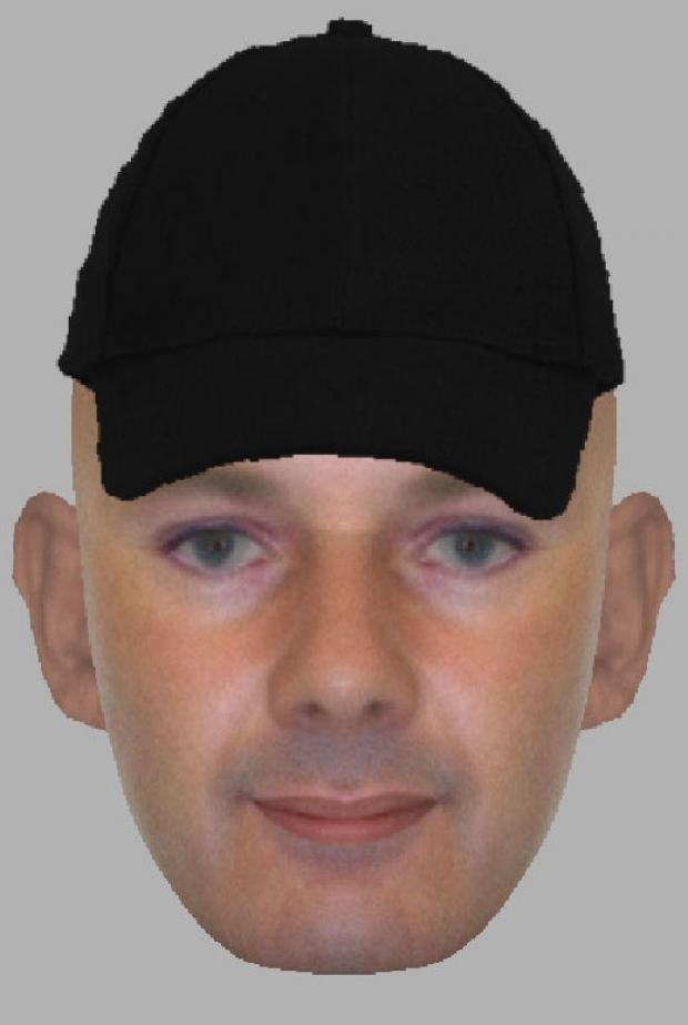 An e-ift of a suspect in the Grange Drive burglary
