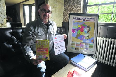 This Is Wiltshire: Gerard Navarro, who is teaching French in Bradford on Avon's pubs, as well as to the county's youngsters in schools