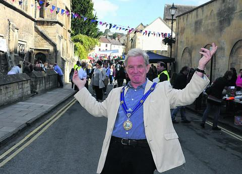 This Is Wiltshire: Bradford on Avon Mayor John Potter welcomes the public; above left,