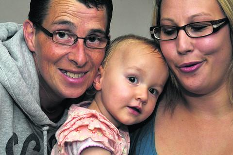 This Is Wiltshire: Baby of the Year winner Madison Brown with parents Leanne and Andrew Brown