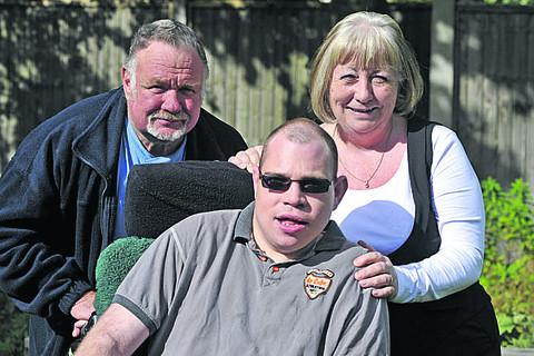 This Is Wiltshire: Glenn Wickham with parents June and David Wickham