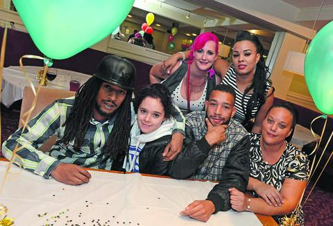 This Is Wiltshire: Anton Nicholson, Jade Nicholson, Malachi Nicholson, Becky Burns, Suezette Vernon and Rochelle Dillan at the fundraising event