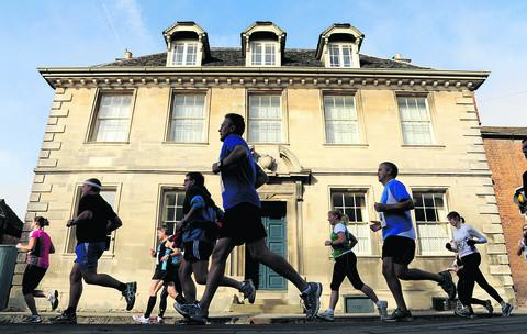 This Is Wiltshire: People take part in the Cricklade half marathon