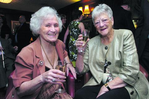 This Is Wiltshire: Doreen (right) at the anniversary of the Blunsdon House Hotel in 2010, with Mollie Tanner