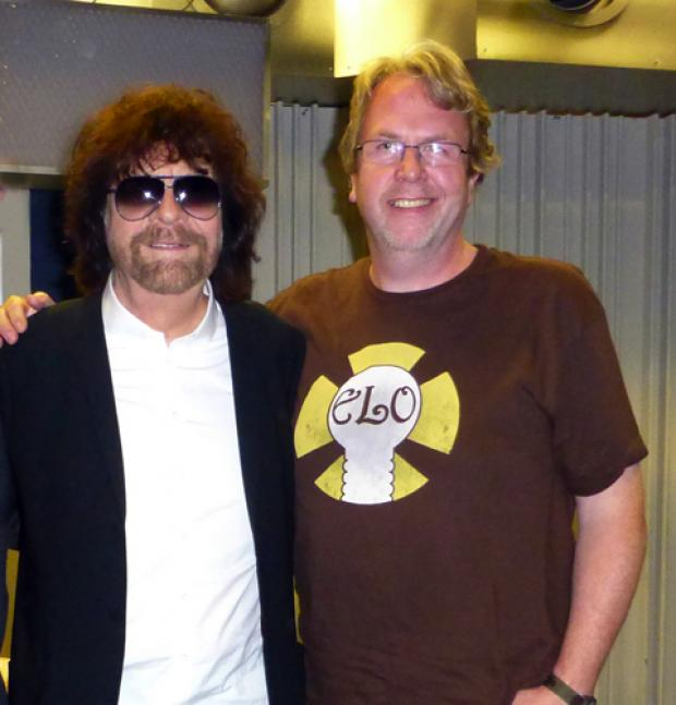 This Is Wiltshire: Ian Hawkes with ELO's Jeff Lynne