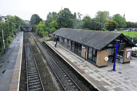 This Is Wiltshire: Trowbridge Railway Station, scene of the fatality this morning