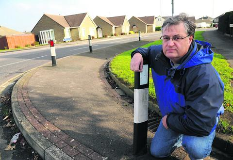 This Is Wiltshire: Coun David Renard outside Greenmeadow Primary School