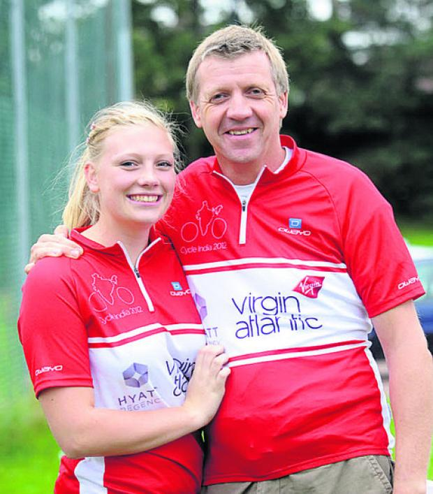 This Is Wiltshire: Emily Weston and her dad Paul