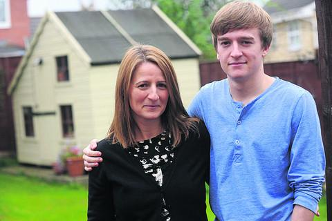 Portia Chandler with her son Daniel,17