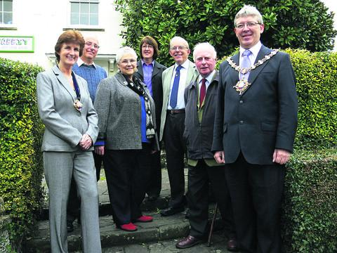 APPEAL: Devizes mayor Kelvin Nash and his wife Pam with Judy Rose and Cathy Spencely, from Avon Road Residents' Association, David Rapley and David Williams, from the Devizes branch of CAMRA, and Tom Fussell, from Devizes Food and Drink Festival