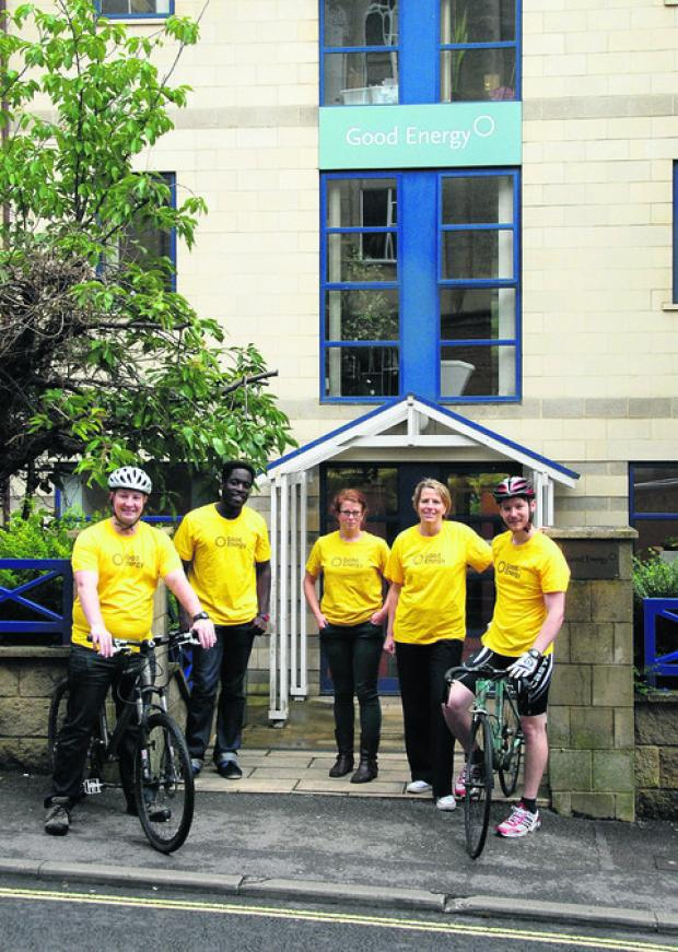 This Is Wiltshire: Some of the staff who took part in Sustrans' Big Cycle and Walk Challenge