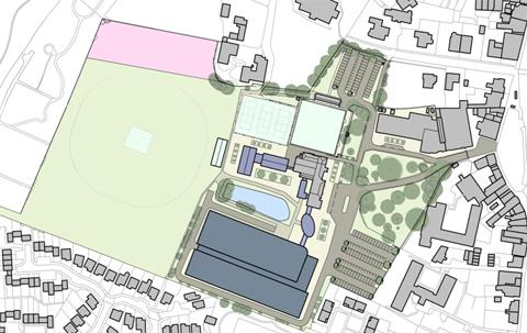 The plan of the Melksham campus site