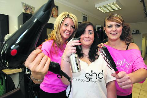 This Is Wiltshire: Sallyanne Murphy, Amy Hutt and Amanda Roberts from Fazes hair salon