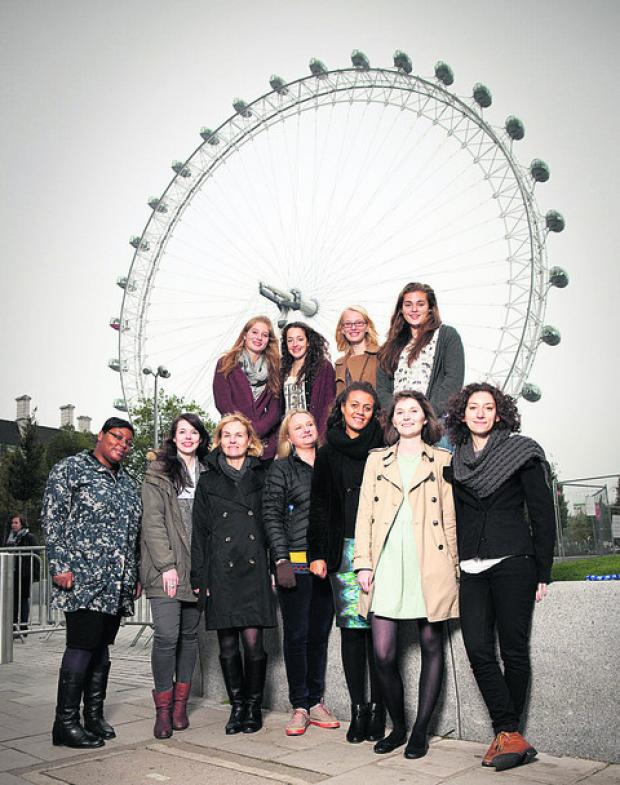 This Is Wiltshire: St Mary's students join the celebrations at the London Eye