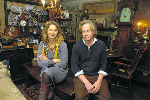 Vicky Heaton-Renshaw and John Chapman in their shop