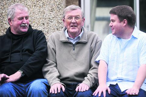 This Is Wiltshire: Derek Griffin, centre, with son Philip, right, and brother Ken, left