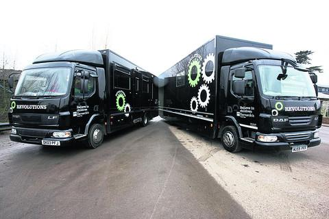 This Is Wiltshire: The two lorries