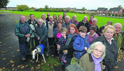 This Is Wiltshire: Councillors Charles Boase and Emma Holton with the concerned residents