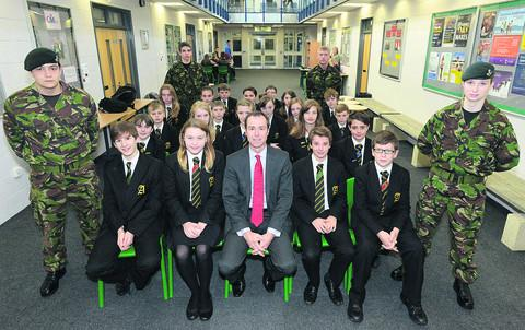 This Is Wiltshire: Headteacher David Nicholson and students celebrate Abbeyfield School's 'good' Ofsted rating