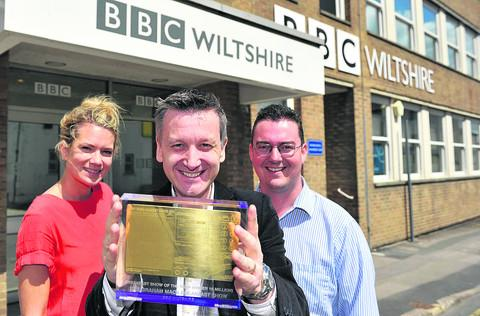 This Is Wiltshire: BBC Wiltshire's breakfast show won a Sony Award last year. Pictured is presenter Graham Mack, centre, with producers Kate Mundy and Richard Crowley