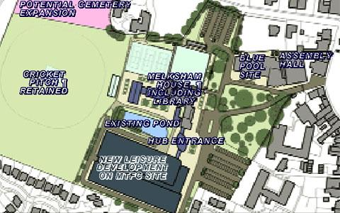 This Is Wiltshire: A plan of the proposed Melksham Campus