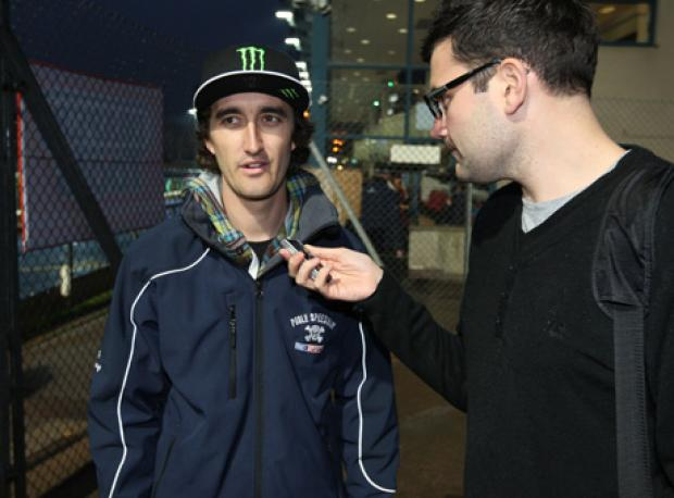 TALKING TIME: Chris Holder speaks to the Echo's Ian Wadley earlier tonight
