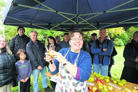 Head gardener Sue Carter talks about the apples in the orchard