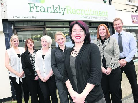 The Frankly Recruitment tream of Charlotte Frank, Kelly Walker, Mica Hornbuckle, Jenny Carter, Amanda Franks, Jo Hamer and Paul McCombe