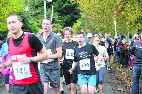 This Is Wiltshire: Runners show their determination on the course
