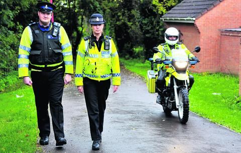 This Is Wiltshire: PCSO Dominic Tonge, PC Stephanie England and PC Gary Rosier in north Swindon