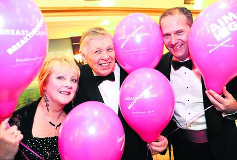 This Is Wiltshire: Rex Barnett, who is the patron of Wiltshire Breakthrough Breast Cancer, with Lynn and Paul Parfrey