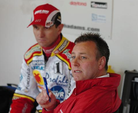 This Is Wiltshire: Former Swindon Robins rider Leigh Adams with Alun Rossiter