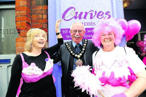 This Is Wiltshire: Mayor Andy Phillips with Hazel Sumner, left, and Linda Gulwell