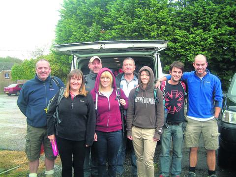 This Is Wiltshire: CHALLENGE: Members of Katch all set to depart on their mountain climb in aid of Bristol Children's Hospital
