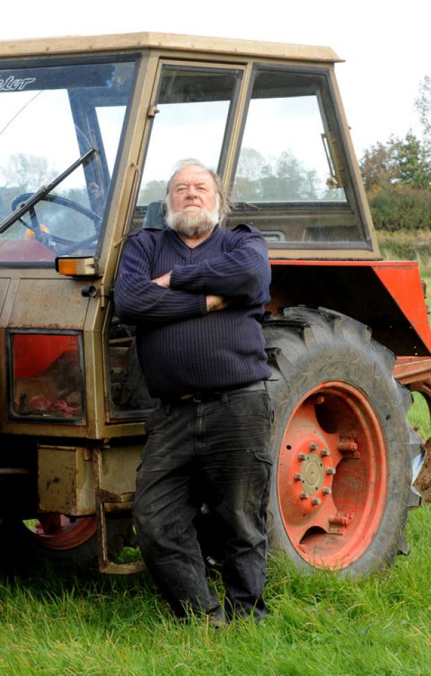 This Is Wiltshire: Farmer Malcolm Hinton with his tractor