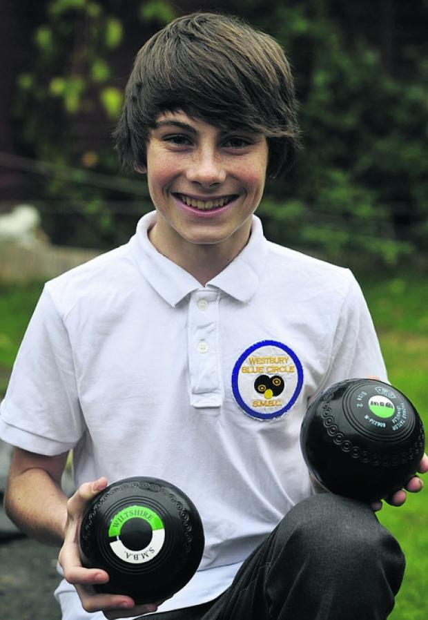 This Is Wiltshire: Aidan Wicks, from Westbury, has made the England U21s short mat bowls team at the age of just 14
