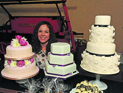 This Is Wiltshire: Michelle Jones from Beckington with her Icing on the Cake creations at the wedding fair  Photos: Trevor Porter (41199)