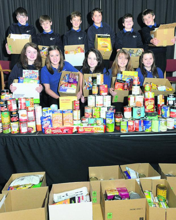 This Is Wiltshire: Nova Hreod school have been collecting for Swindon Food Bank