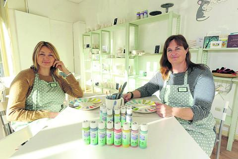 This Is Wiltshire: Leanne Wilkins and Liney Keen have brought an empty shop back into use