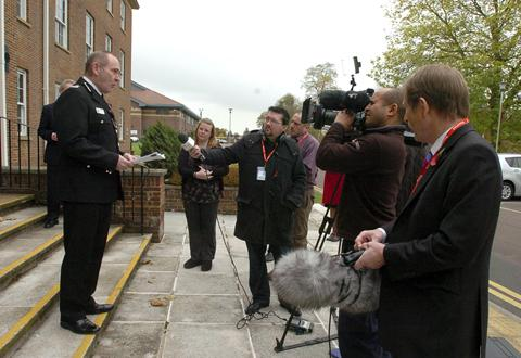 This Is Wiltshire: Pat Geety addresses journalists this morning