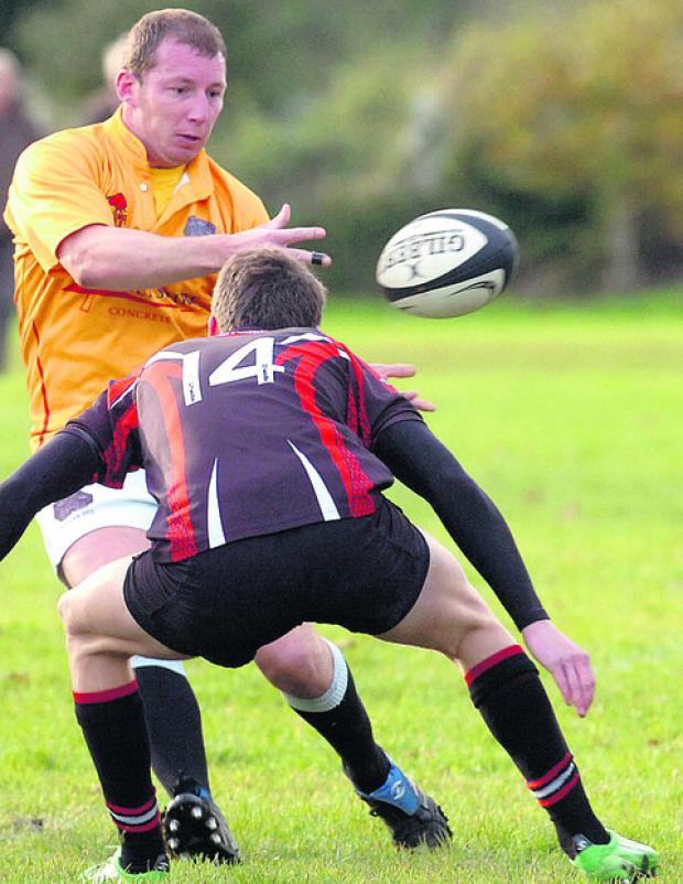 This Is Wiltshire: Devizes John Angell on the attack during his side's win over Sherborne last weekend